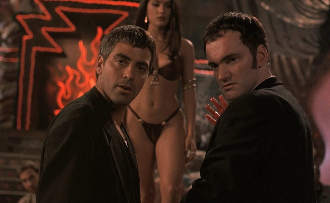 Tarantino, Clooney and Hayek in From dust till dawn